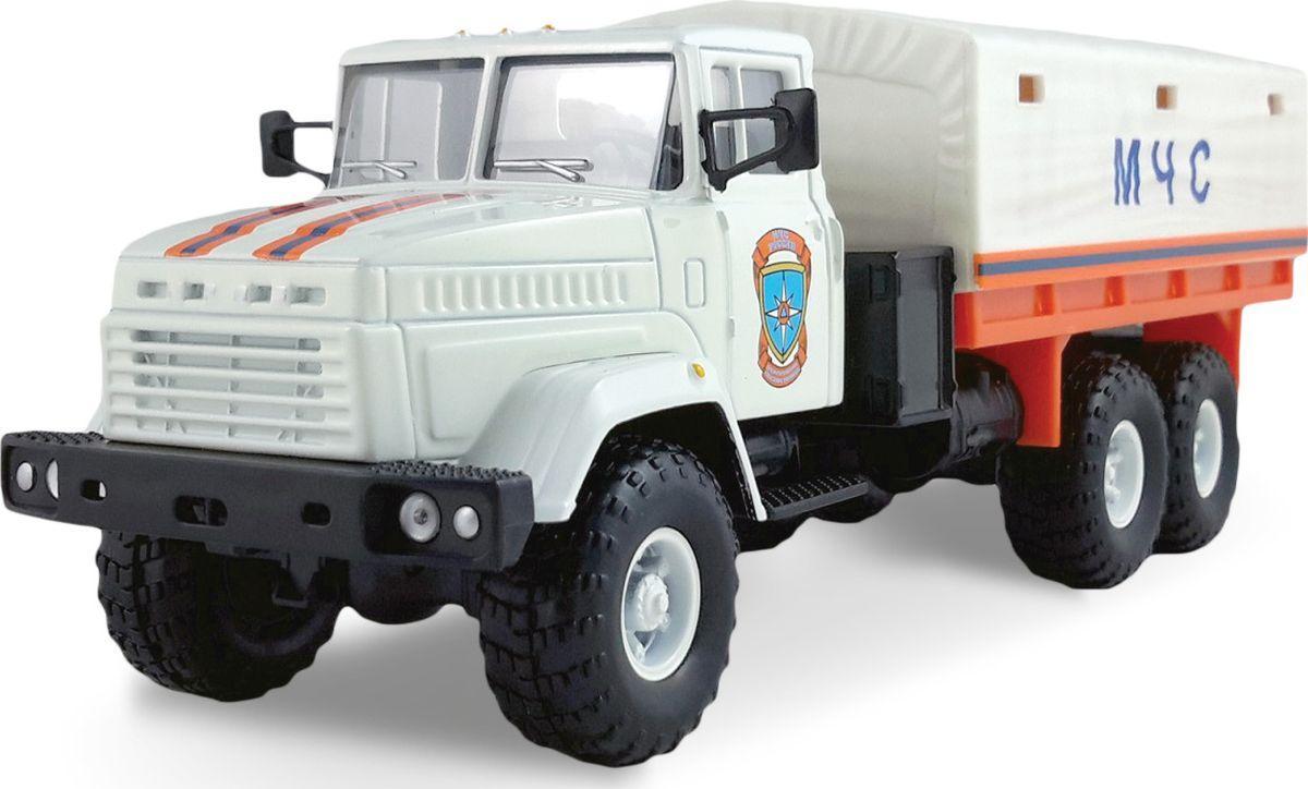 Autotime Модель автомобиля КрАЗ-6322 МЧС autotime модель автомобиля uaz 39625 гражданская