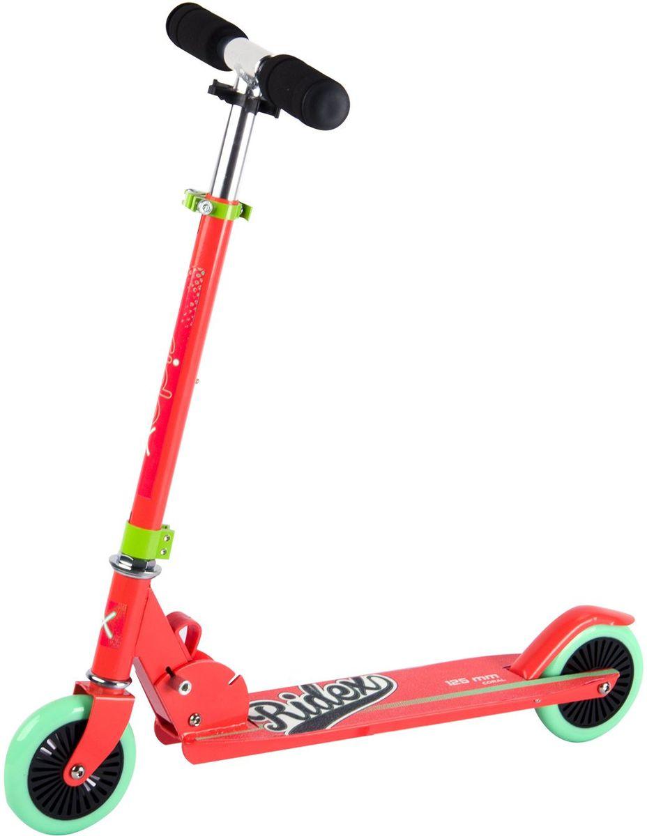 Самокат Ridex Coral, 2-колесный, цвет: коралловый, мятный, 125 мм самокат ridex syndicate 2 колесный цвет красный