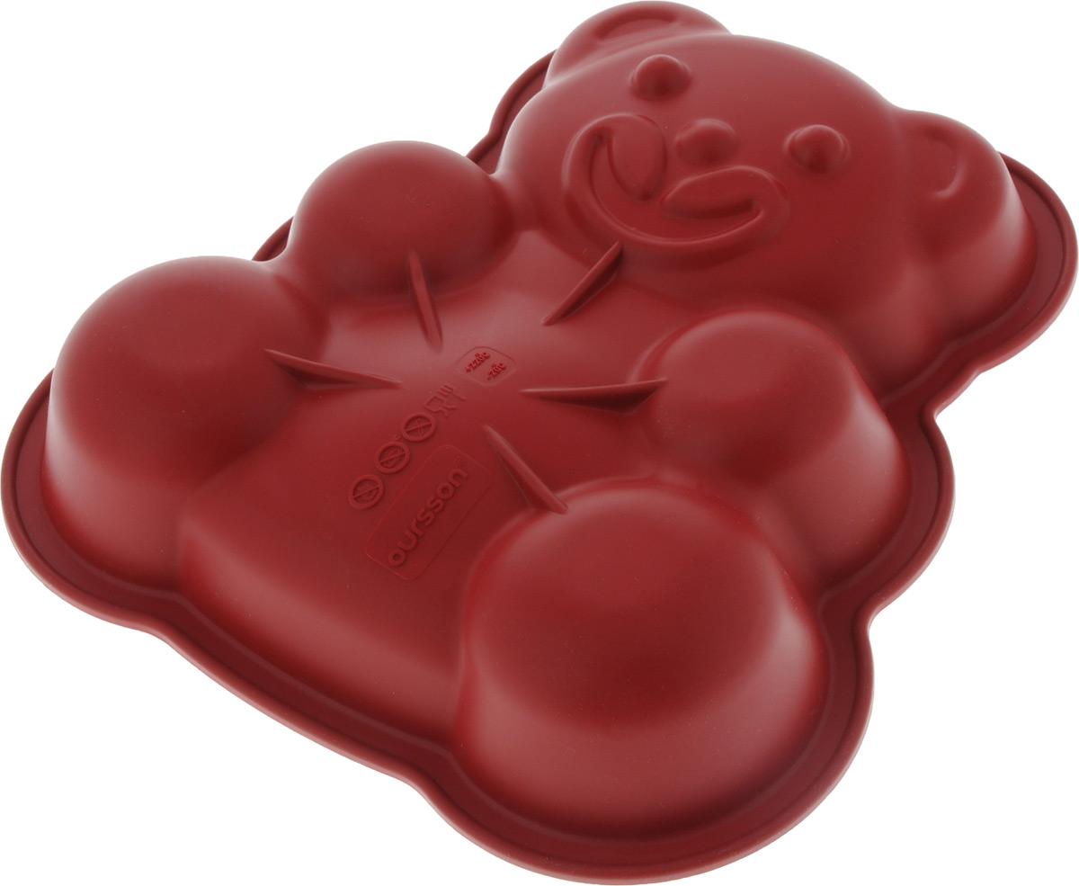Форма для выпечки Oursson Медведь, силиконовая, 25 х 24 х 5 см набор для выпечки oursson silicone bw3150ss mc