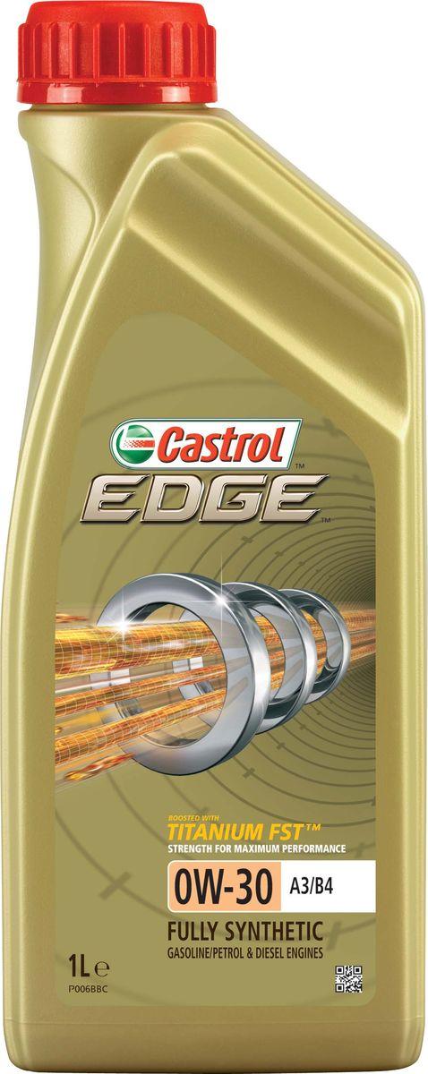 """Масло моторное Castrol """"Edge"""", синтетическое, класс вязкости 0W-30, A3/B4, 1 л. 157E6A"""