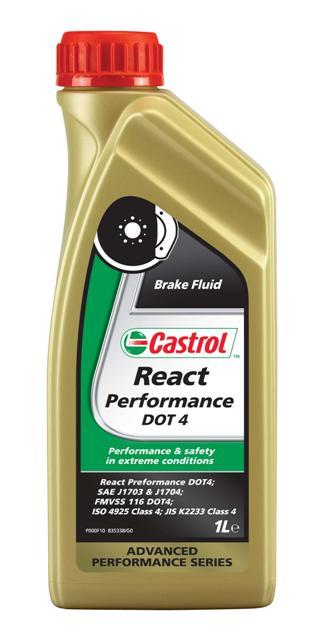 Жидкость тормозная Castrol React Performance DOT 4, 1 л dot