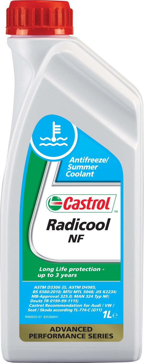 "Антифриз Castrol ""Radicool NF"", концентрированный, 1 л"