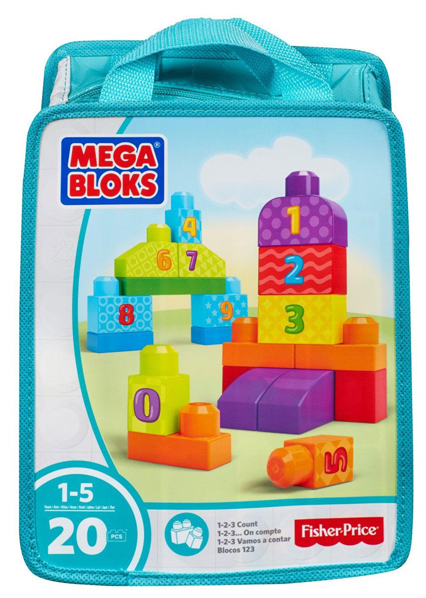 Mega Bloks First Builders Конструктор Учимся считать цвет бирюзовый mega bloks first builders конструктор маленькие транспортные средства грузовичок
