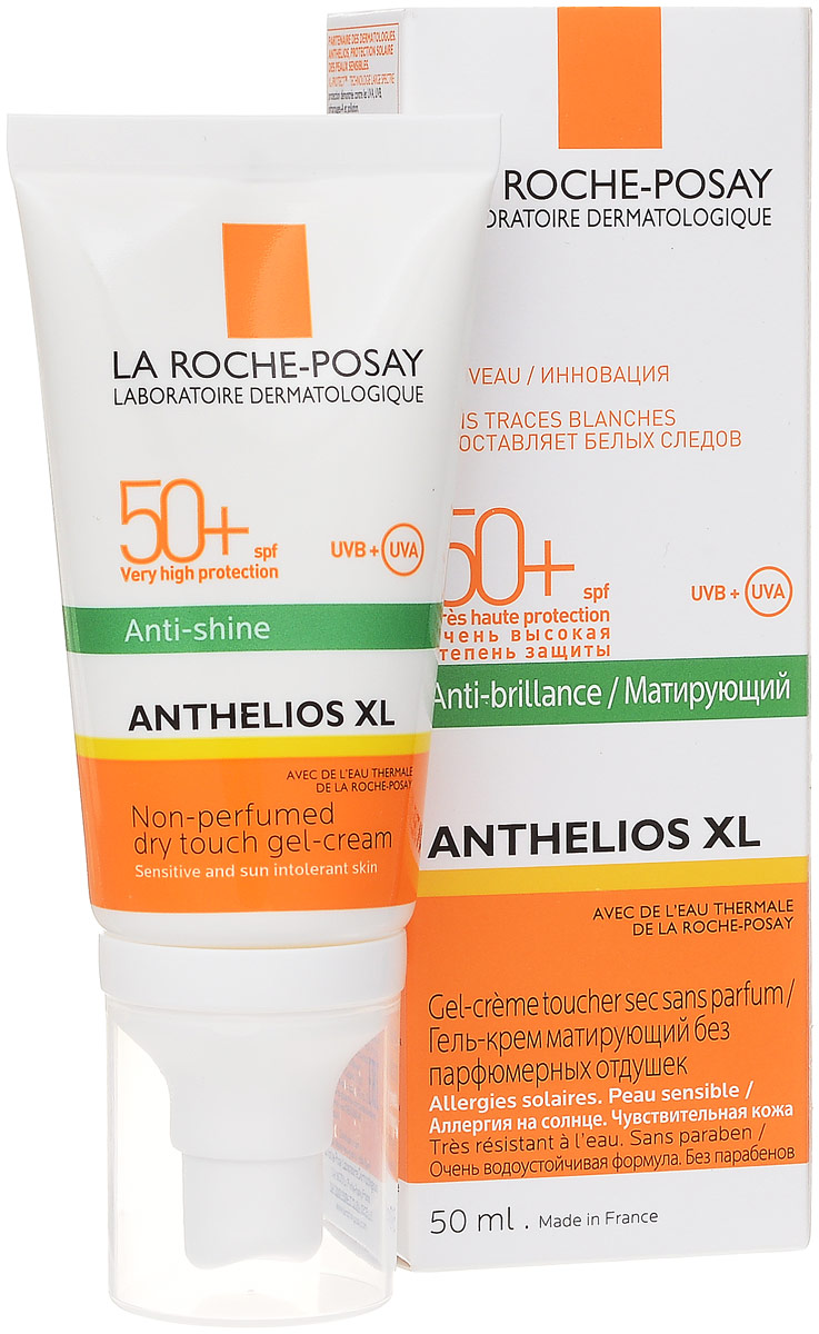 La Roche-Posay Гель-крем матирующий Anthelios XL SPF50+, 50 мл крем гель для проблемной и жирной кожи матирующий эффект 50 мл