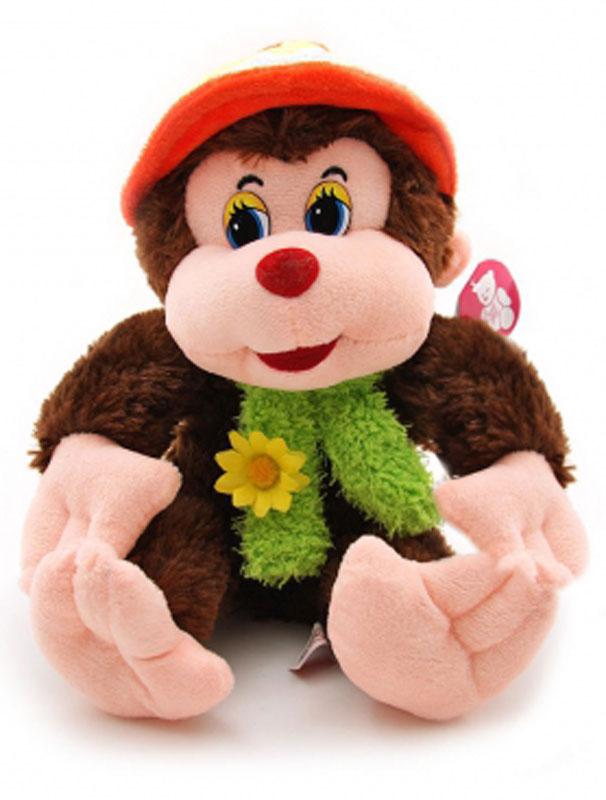 Magic Bear Toys Мягкая игрушка Обезьяна Ульяна в шляпе цвет темно-коричневый 24 см