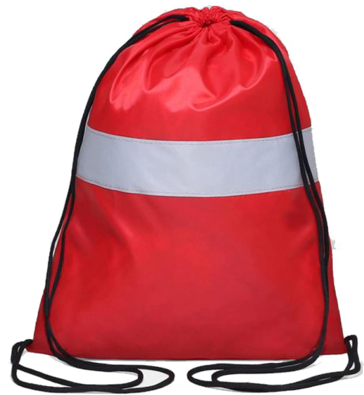 Сумка-мешок для сменной обуви Антей, Я-104, со светоотражающей полосой, красный, 43 х 32 см мешок джутовый 2677388 53 х 104 см