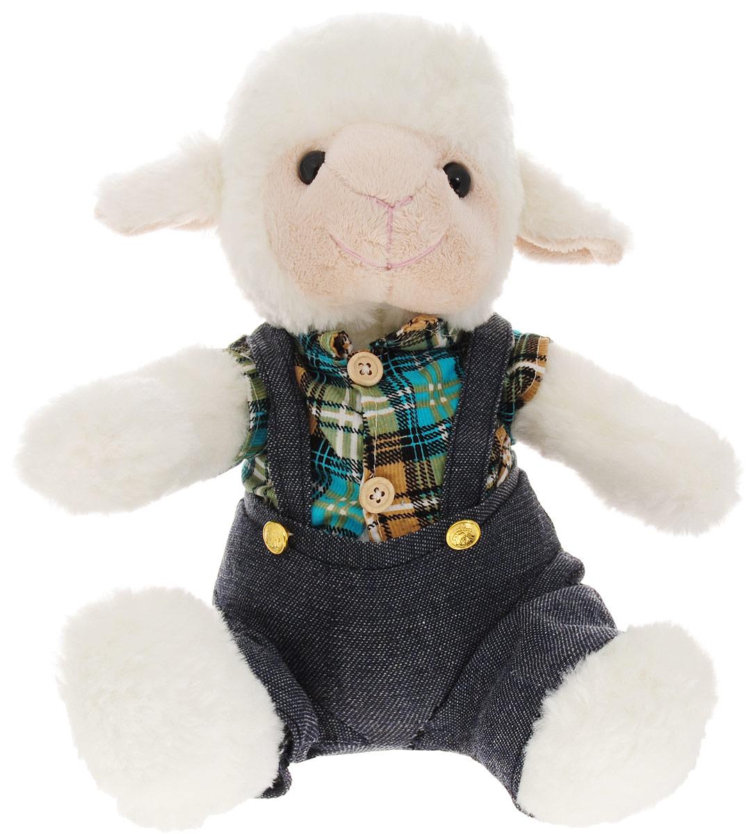 Фото - Magic Bear Toys Мягкая игрушка Овечка мальчик 23 см magic bear toys мягкая игрушка овечка цвет фиолетовый 42 см