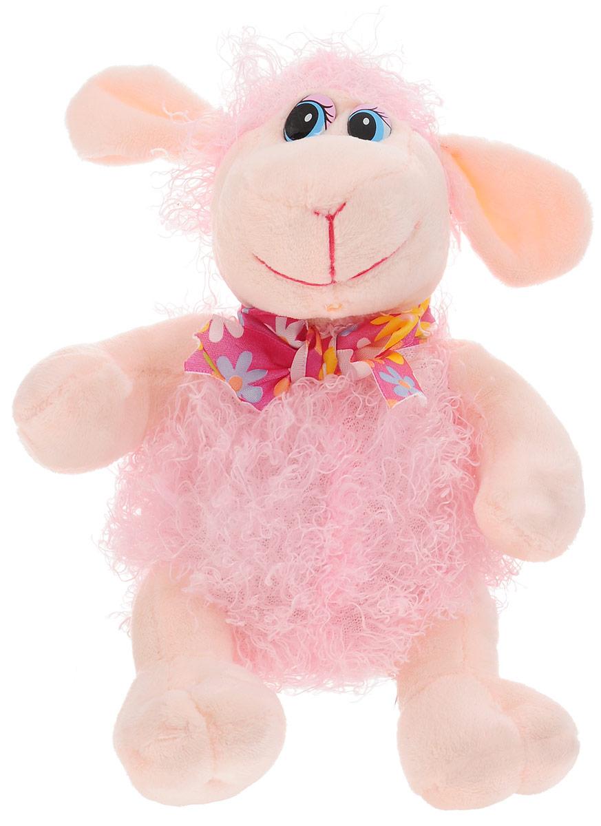 Magic Bear Toys Мягкая игрушка Овечка цвет розовый 18 см