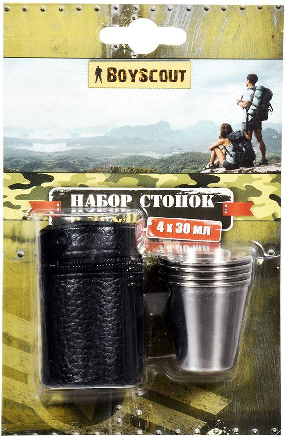 Набор стопок Boyscout, в чехле, 30 мл, 4 шт