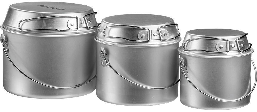 Набор котлов Boyscout Туристический, с универсальными крышками-сковородками, 3 шт очаг boyscout кони диаметр 45 см