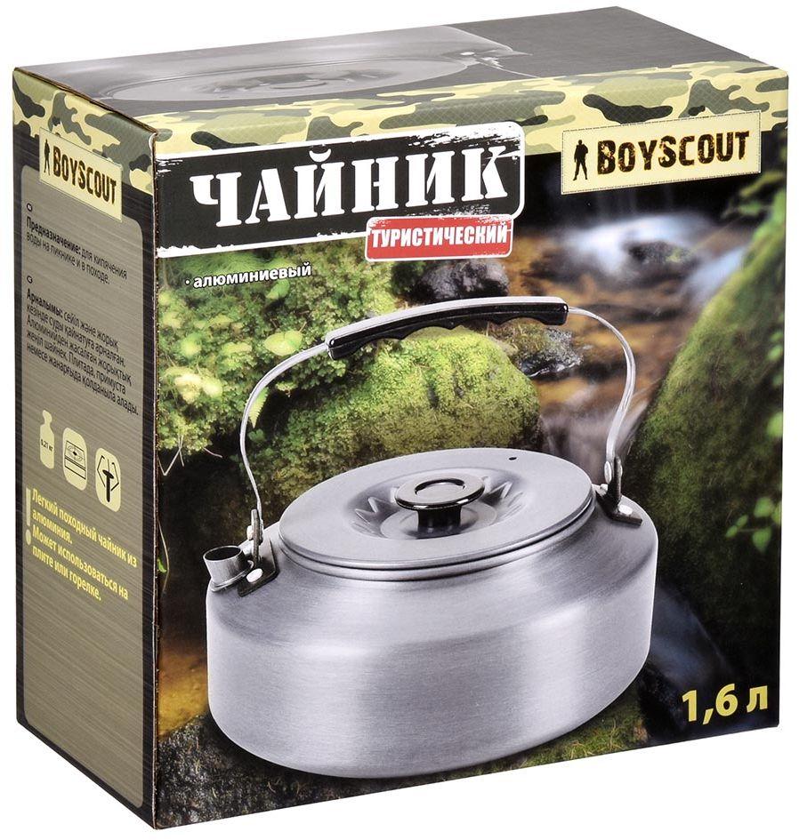Чайник Boyscout Туристический, цвет: темно-серый, 1,6 л