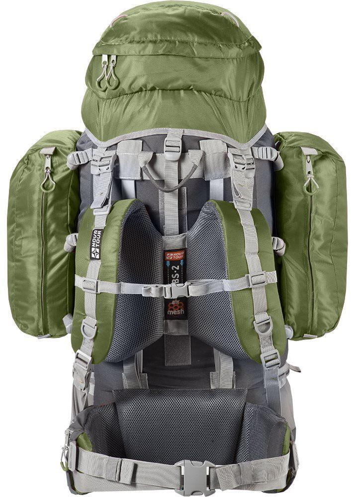 Рюкзак экспедиционный Nova Tour Абакан, цвет: серый, олива, 130 л
