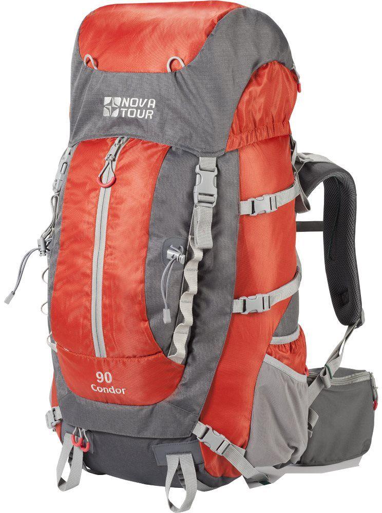 Рюкзак экспедиционный Nova Tour Кондор, цвет: серый, терракотовый, 90 л