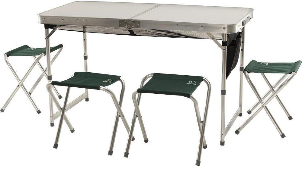 Набор мебели для пикника Greenell FTFS-1 V2, цвет: зеленый, 5 предметов