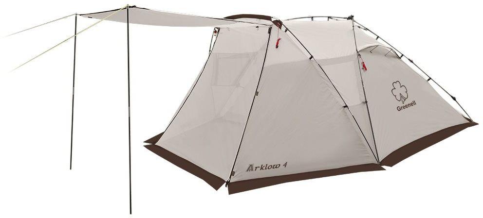Палатка автоматическая Greenell Арклоу 4, цвет: коричневый