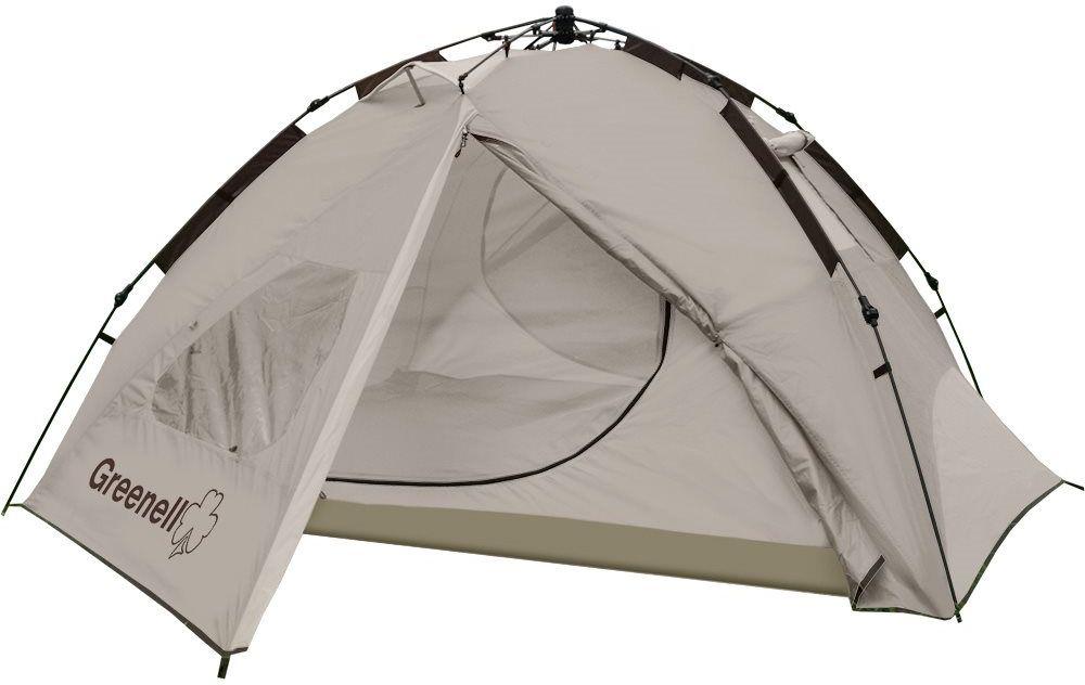 Палатка автоматическая Greenell Донган 4, цвет: коричневый