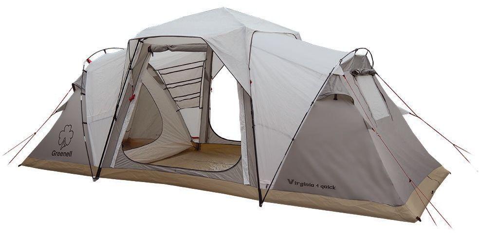Палатка автоматическая Greenell Виржиния 6 квик, цвет: коричневый