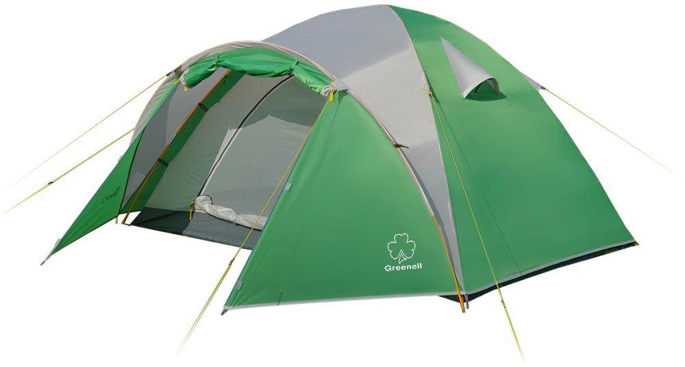 Палатка Greenell Дом 3, цвет: зеленый, светло-серый