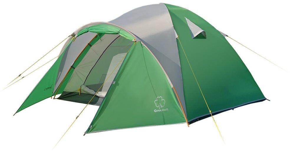 Палатка Greenell Дом 4 V2, цвет: зеленый, светло-серый