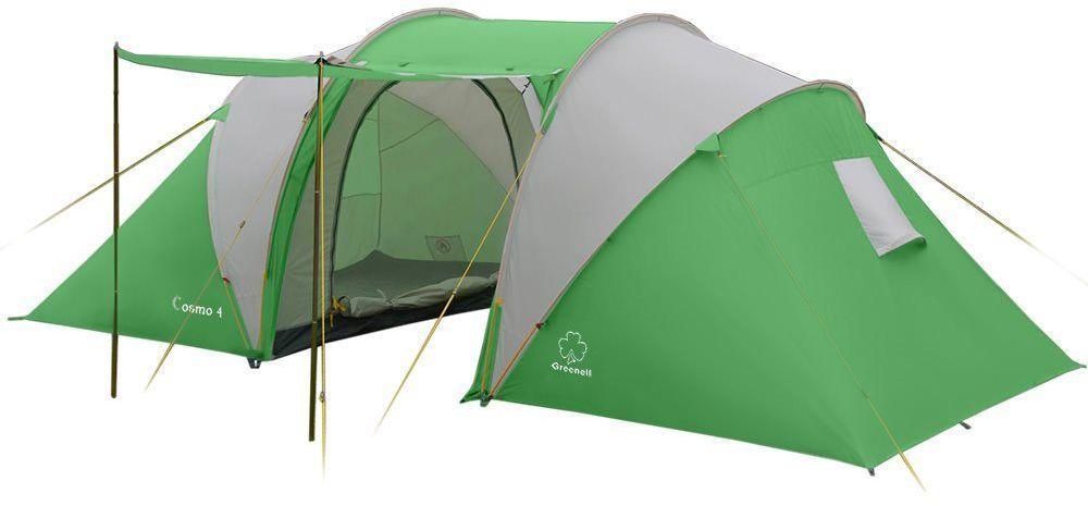 Палатка Greenell Космо 4, цвет: зеленый, светло-серый