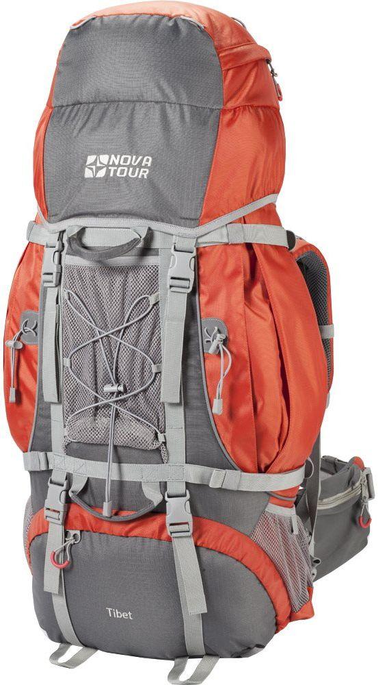 Рюкзак экспедиционный Nova Tour Тибет, цвет: серый, терракотовый, 110 л