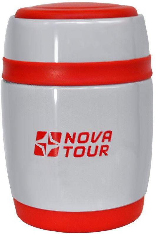Термос Nova Tour Ланч 380, цвет: серый, красный, 0,38 л термос nova tour твист цвет серый 1 л