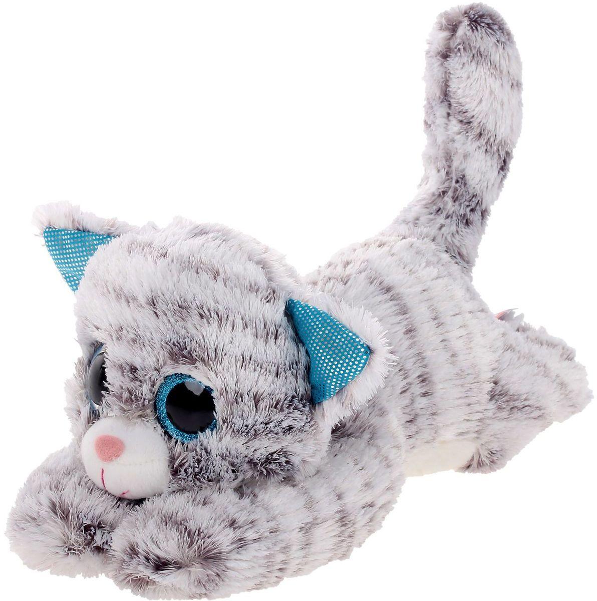 Fancy Мягкая игрушка Кот Глазастик 19 см цены
