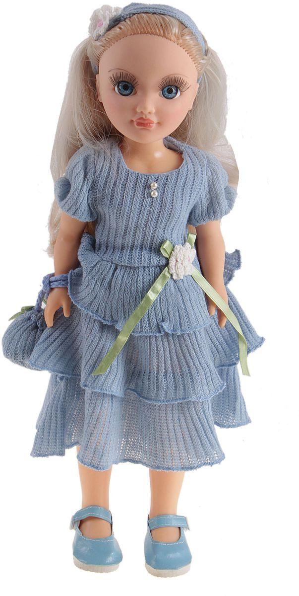 Весна Кукла озвученная Анастасия голубой ажур 42 см