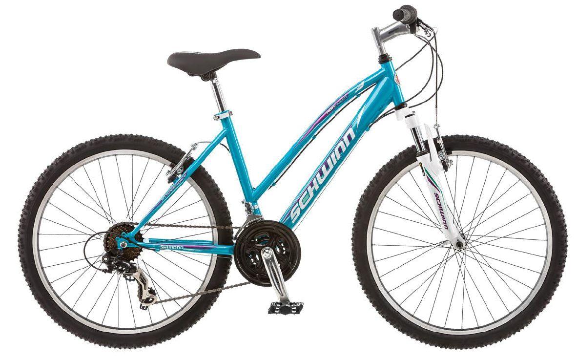 Велосипед горный Schwinn High Timber Girl, колесо 24, рама 14, цвет: голубой, 21 скорость