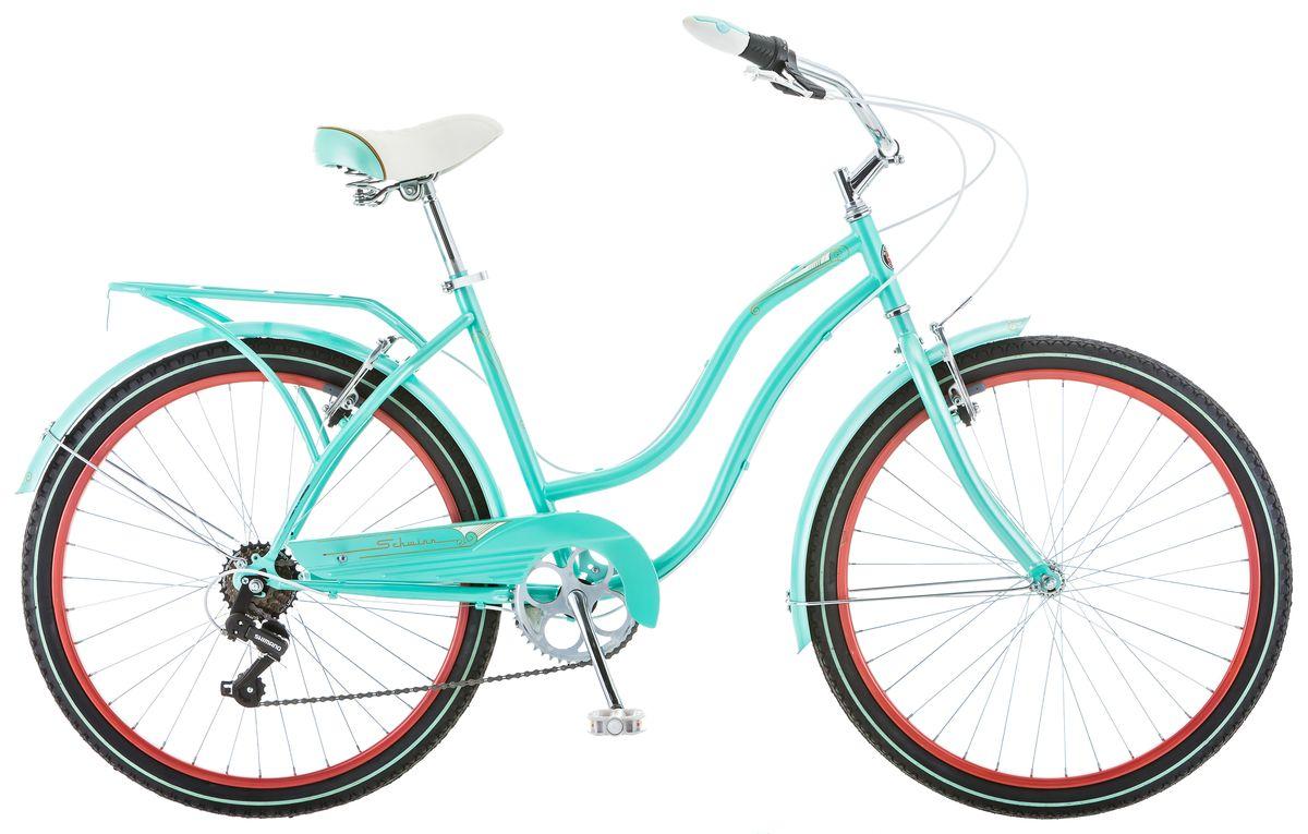 Велосипед городской Schwinn Perla Women, колесо 26, рама 16, цвет: голубой, 7 скоростей велосипед schwinn perla 7 2018