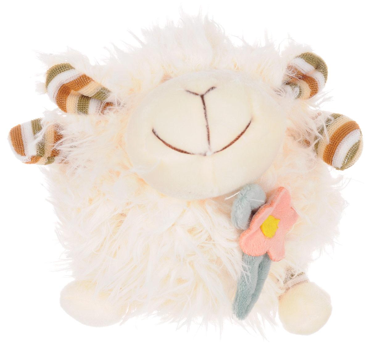 Jackie Chinoco Мягкая игрушка Овечка с бантом 16 см мягкая игрушка jackie chinoco петус джейси 13107 8 5