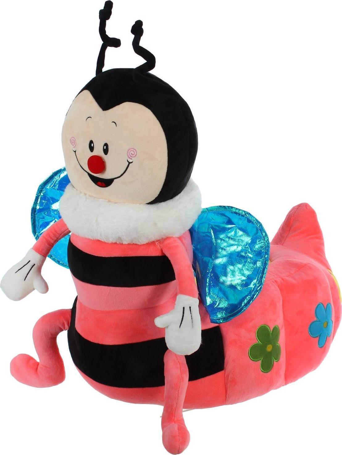 Sima-land Мягкая игрушка-кресло Пчелка цвет черный розовый мягкая игрушка sima land овечка на присосках 18 см 332770
