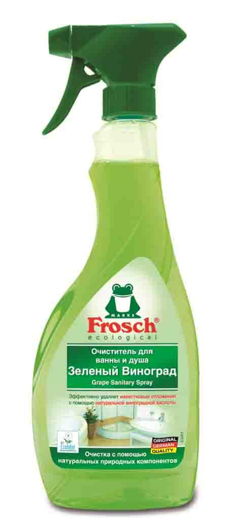 """Очиститель """"Frosch"""" для ванны и душа, зеленый виноград, 500 мл"""