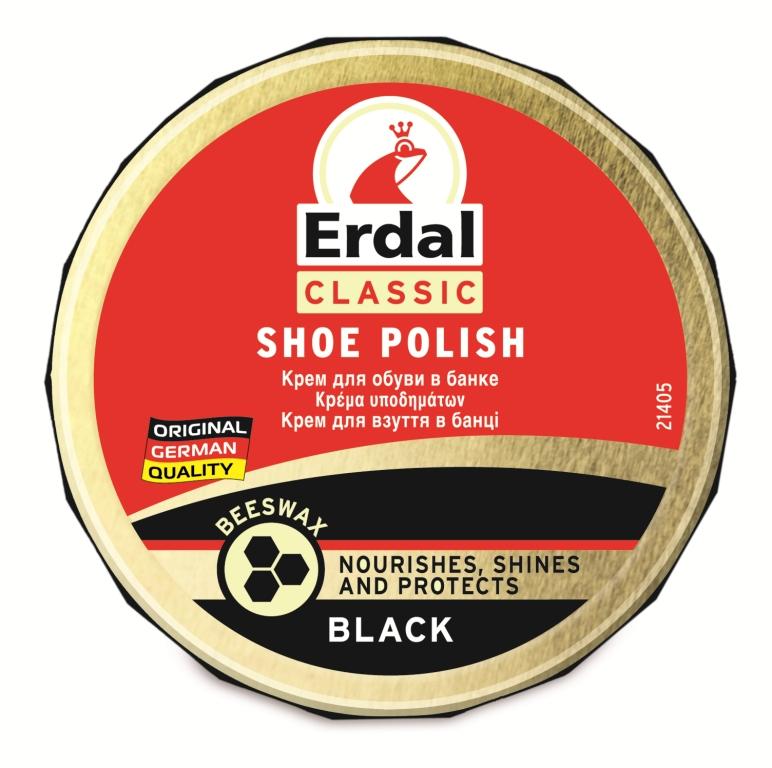 Крем для обуви Erdal, цвет: черный, 75 мл краска для кожи erdal