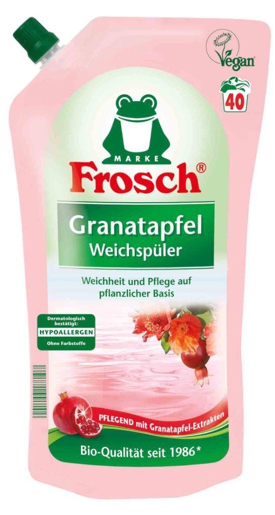 Кондиционер-ополаскиватель для белья Frosch Гранат, концентрированный, аромат граната, 1 л кондиционер ополаскиватель milli baby концентрированный 1 л