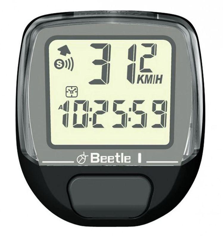 цена на Велокомпьютер Echowell Beetle-1, проводной, 5 функций, цвет: черный