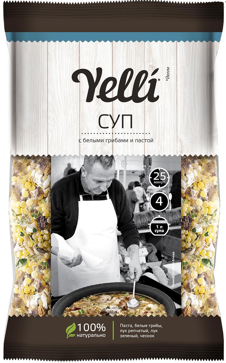 Yelli суп с белыми грибами и пастой, 100 г dr oetker пикантфикс для грибов 100 г