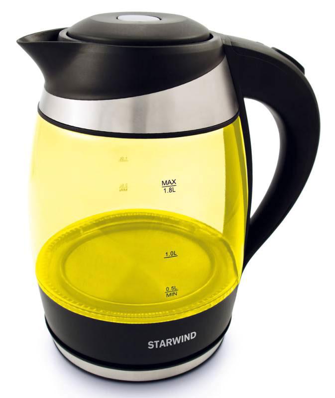Электрический чайник Starwind SKG2215, Yellow Black starwind skp2212 white black