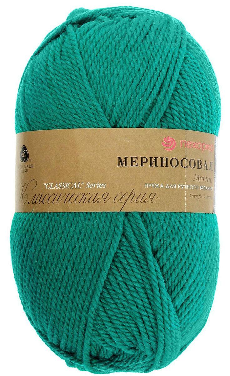 Пряжа для вязания Пехорка Мериносовая, цвет: изумрудный (335), 200 м, 100 г, 10 шт пряжа для вязания пехорка мериносовая цвет изумрудный 335 200 м 100 г 10 шт