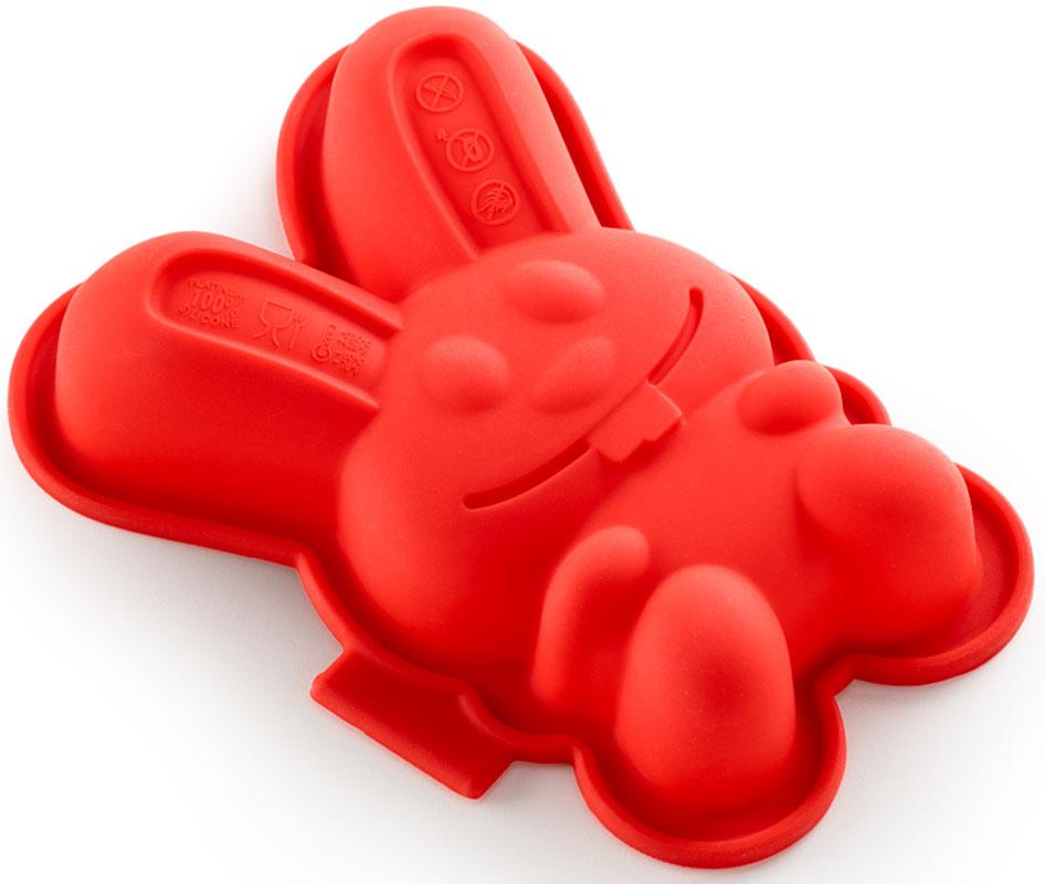 """Форма для кекса Lekue """"Зайчик"""", цвет: красный, 2 шт"""