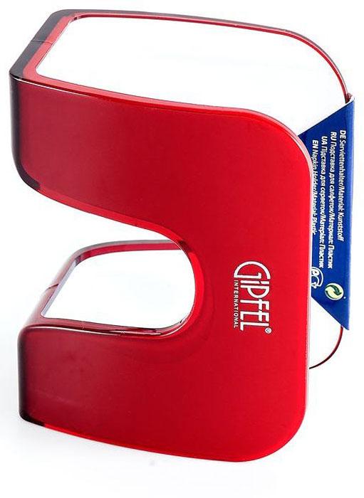 Подставка для салфеток Gipfel Arco, цвет: красный, белый, 12,3 х 6,2 х 9,6 см подставка для салфеток gipfel arco 3740