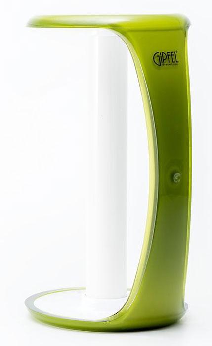 Держатель для бумажных полотенец Gipfel Arco, цвет: зеленый, белый, 13,5 х 26 см gipfel масленка arco
