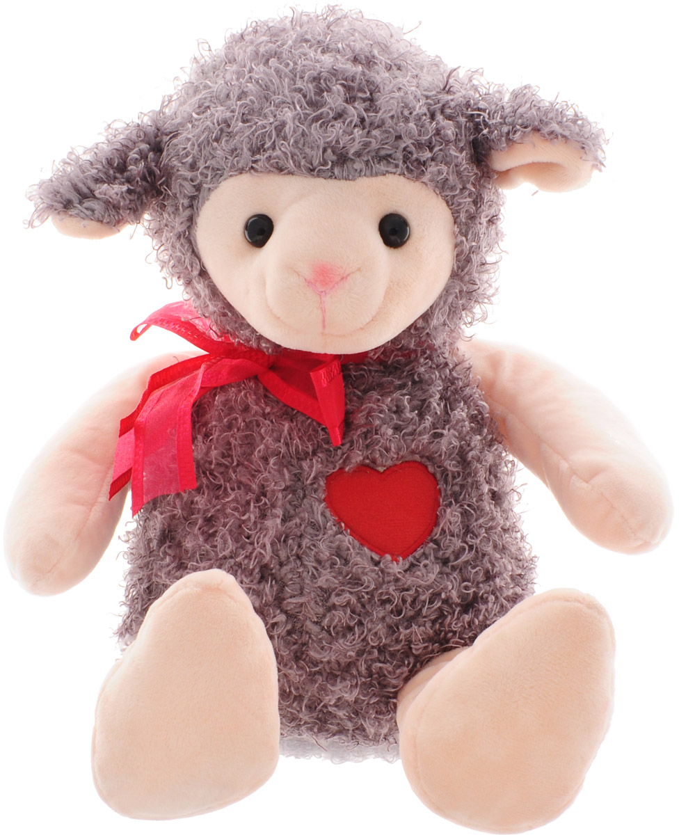 Magic Bear Toys Мягкая игрушка Овечка цвет серо-коричневый 28 см цена