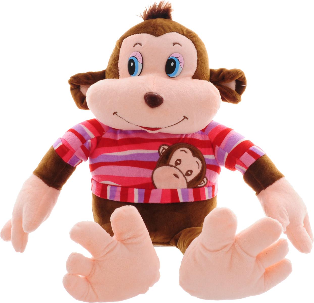 Magic Bear Toys Мягкая игрушка Обезьяна Тихон цвет одежды розовый 30 см