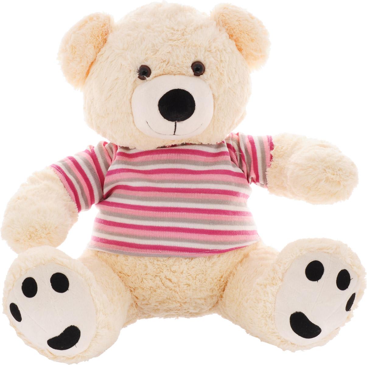 Magic Bear Toys Мягкая игрушка Мишка в свитере цвет свитера розовый серый белый 50 см
