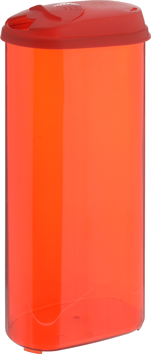 Фото - Банка для сыпучих продуктов Giaretti, с дозатором, цвет: красный, 2,4 л банка для сыпучих продуктов giaretti с дозатором 800 мл