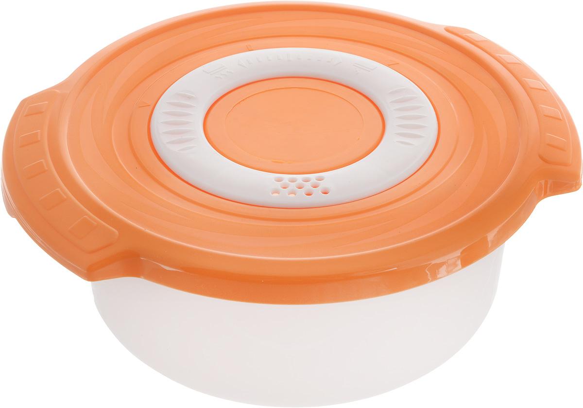 Кастрюля для СВЧ Plastic Centre Galaxy, цвет: оранжевый, 0,9 л комплект емкостей для свч plastic centre galaxy цвет светло зеленый прозрачный 5 шт