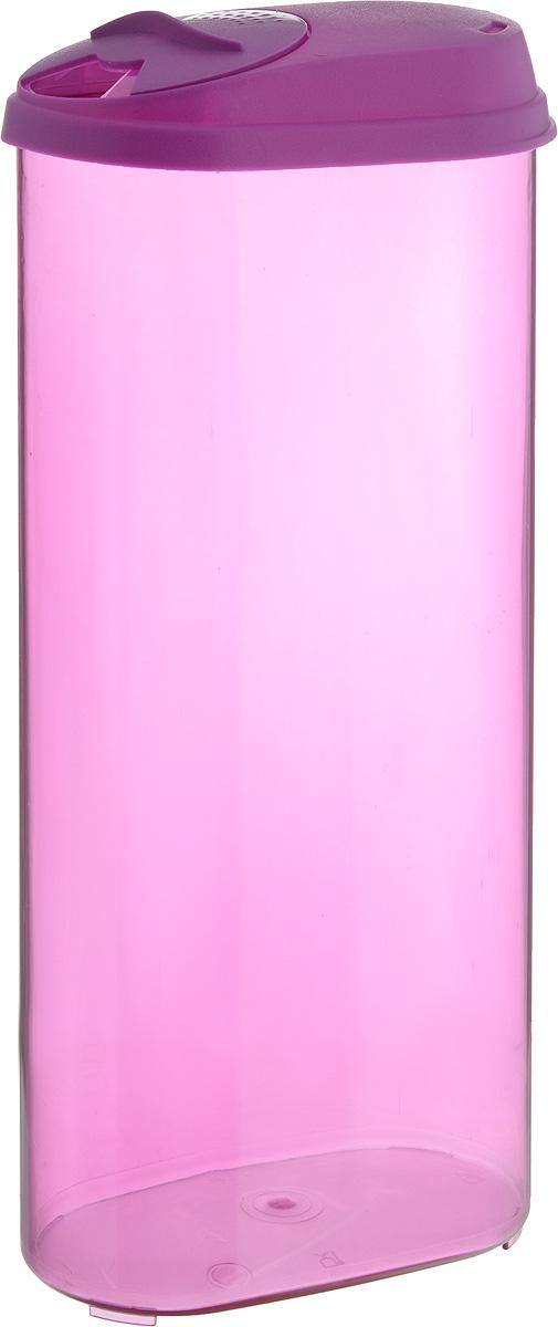 Банка для сыпучих продуктов Giaretti, с дозатором, цвет: фиолетовый, 2,4 л банка для сыпучих продуктов giaretti цвет фиолетовый 800 мл