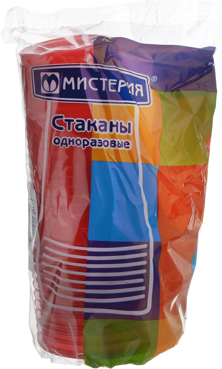 Набор одноразовых стаканов Мистерия, цвет: красный, 200 мл, 12 шт набор одноразовых стаканов buffet biсolor цвет оранжевый желтый 200 мл 6 шт