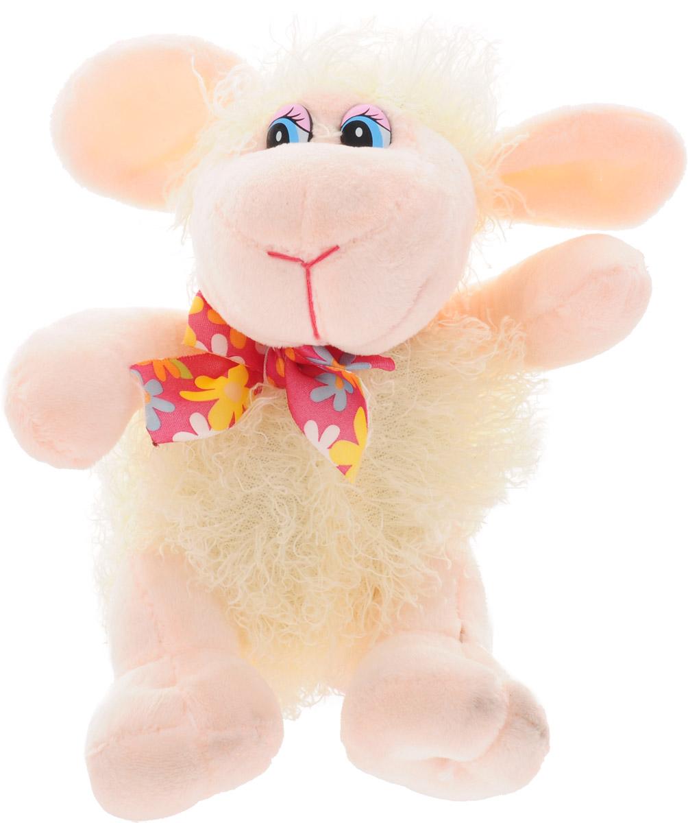 Magic Bear Toys Мягкая игрушка Овечка цвет молочный 18 см мягкая игрушка sima land овечка на присосках 18 см 332770